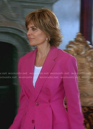 Lisa's pink blazer on The Real Housewives of Beverly Hills