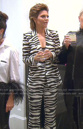 Lisa's zebra print suit on The Real Housewives of Beverly Hills