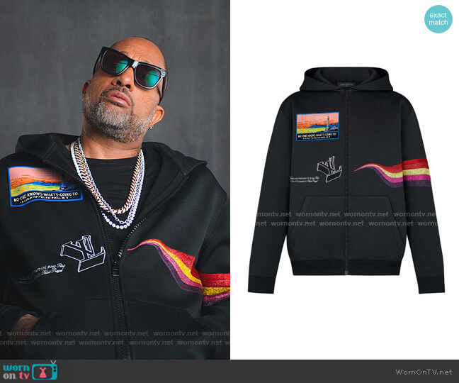 Logo Embroidered Track Top by Louis Vuitton worn by Kenya Barris  on BlackAF