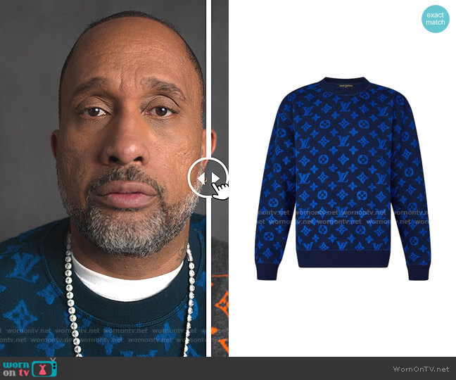Monogram Jacquard Sweater by Louis Vuitton worn by Kenya Barris  on BlackAF