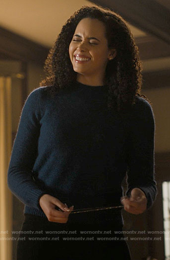 Macy's teal blue sweater on Charmed