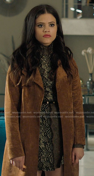 Maggie's tan suede coat on Charmed