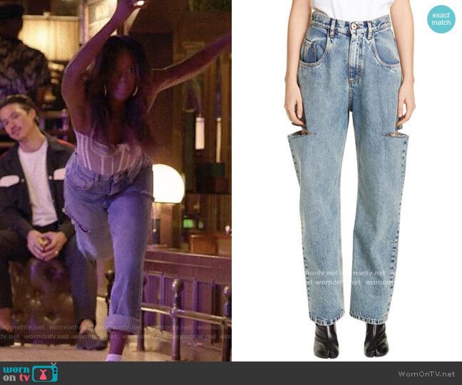Maison Margiela Side Slit Wide Leg Jeans worn by Molly Carter (Yvonne Orji) on Insecure
