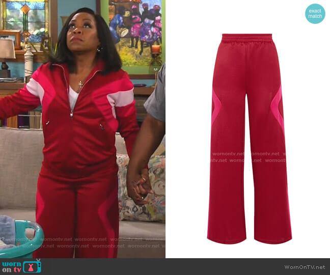 Two-Tone Track Pants by Maje worn by Tina (Tichina Arnold) on The Neighborhood