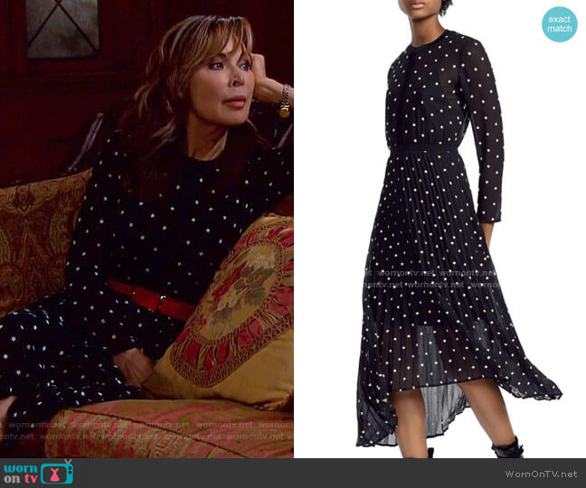 Rivoli Dress by Maje worn by Kate Roberts (Lauren Koslow) on Days of our Lives