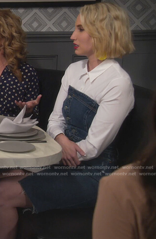 Mandy's strapless denim dress on Last Man Standing