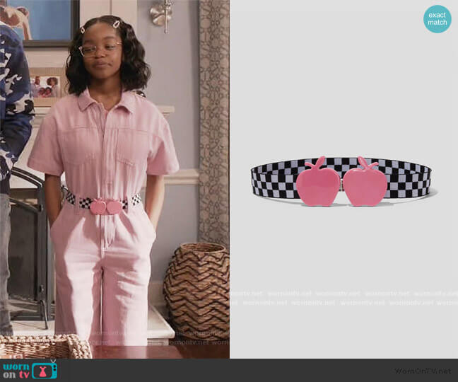 The Apple Belt by Marc Jacobs worn by Diane Johnson (Marsai Martin) on Blackish