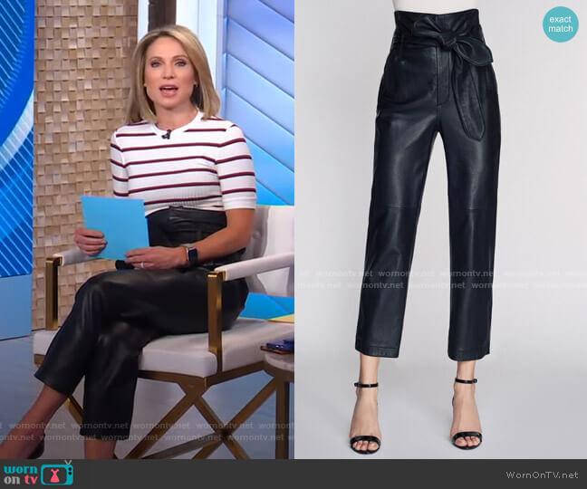 Brennan Pant by Marissa Webb worn by Amy Robach  on Good Morning America