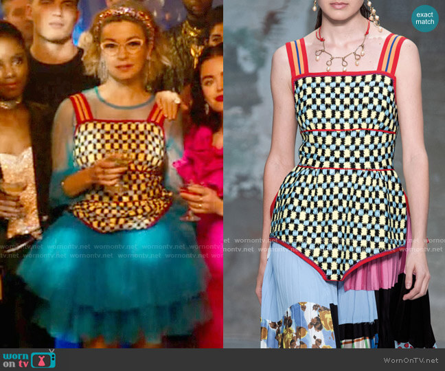 Marni Plaid Tank Top worn by Pepper Smith (Julia Chan) on Katy Keene