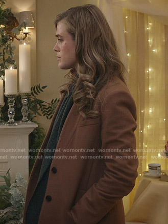 Michaela's brown wool coat on Manifest