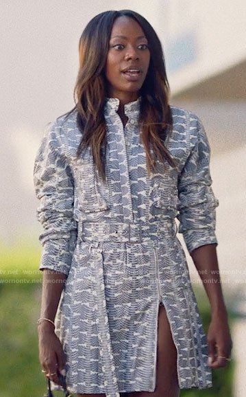 Molly's printed shirtdress on Insecure