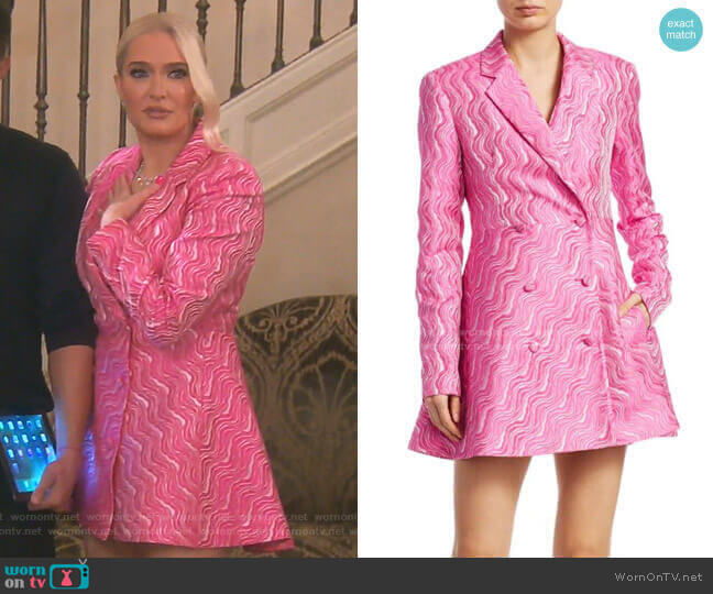 N.23 Double-Breasted Jacquard Blazer Dress by Rotate worn by Erika Girardi  on The Real Housewives of Beverly Hills