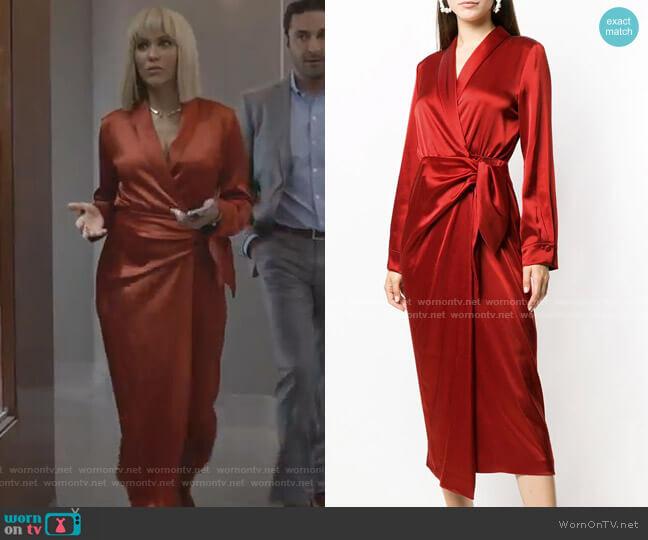 Ezra Wrap Dress by Nanushka worn by Giselle (Nicole Ari Parker) on Empire