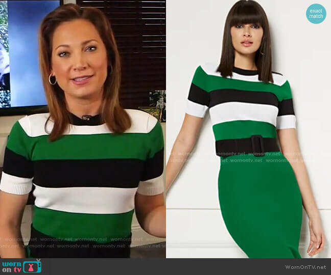 Lucia Sweater - Eva Mendes Collection by New York & Company worn by Ginger Zee  on Good Morning America