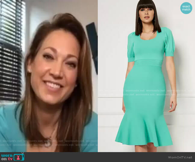 Flavia Sweater Dress - Eva Mendes Collection by New York & Company worn by Ginger Zee  on Good Morning America