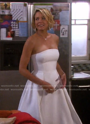 Nicole's strapless wedding dress on Days of our Lives