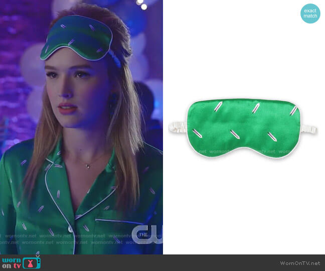 Printed Silk-Satin Eye Mask by Olivia von Halle worn by Kirby Anders (Maddison Brown) on Dynasty