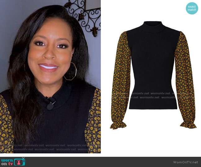 Long Sleeve Mixed Sweater by Opening Ceremony worn by Sheinelle Jones  on Today
