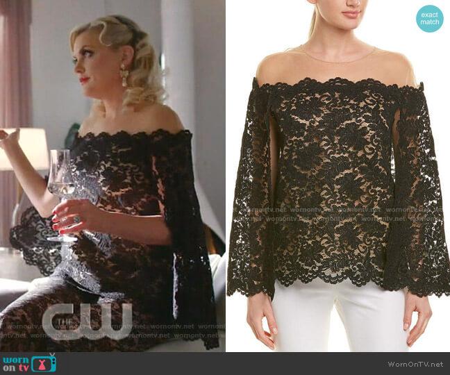 Silk-Lined Top by Oscar de la Renta worn by Alexis Carrington (Elaine Hendrix) on Dynasty