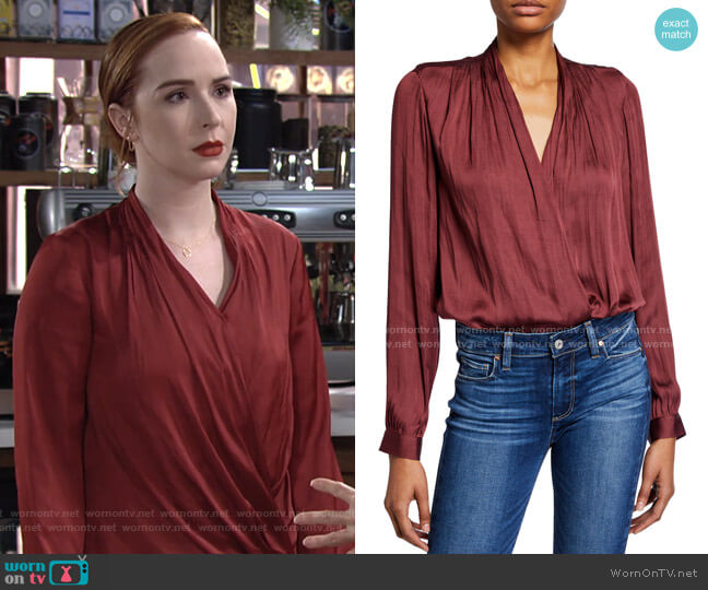 Sevilla Bodysuit by Paige worn by Mariah Copeland (Camryn Grimes) on The Young & the Restless