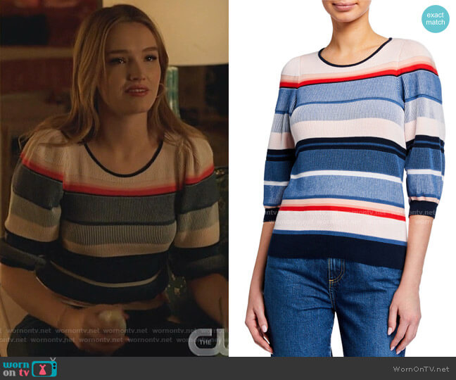 Tucson Knit 3/4-Sleeve Top by Parker worn by Kirby Anders (Maddison Brown) on Dynasty
