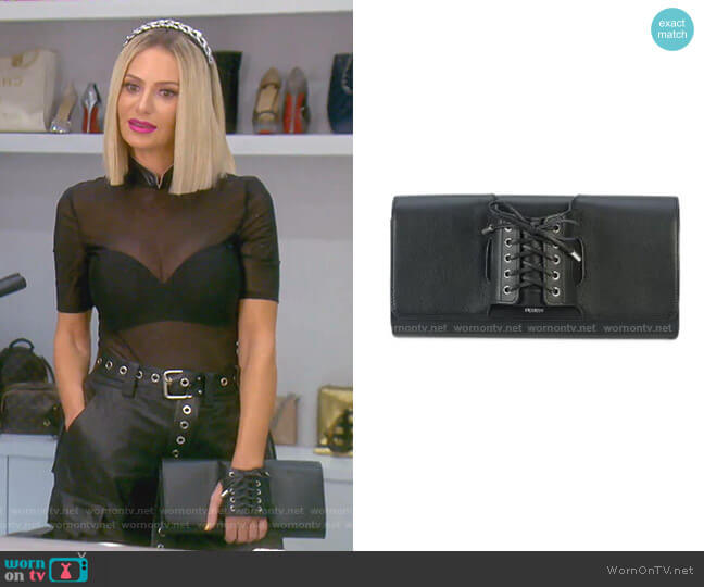 Le Corset Clutch Bag by Perrin Paris worn by Dorit Kemsley  on The Real Housewives of Beverly Hills