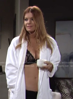 Phyllis's black lace bra on The Young and The Restless