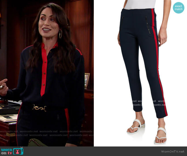 Rag & Bone Simone Pants worn by Quinn Fuller (Rena Sofer) on The Bold & the Beautiful