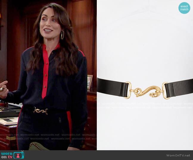 Rag & Bone Swinger Hip Belt worn by Quinn Fuller (Rena Sofer) on The Bold & the Beautiful