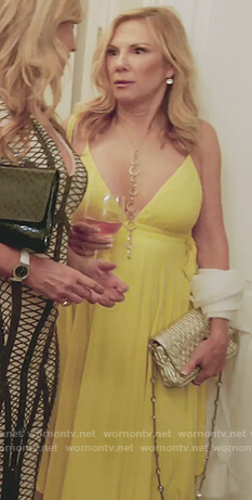 Ramona's yellow strap maxi dress on The Real Housewives of New York City