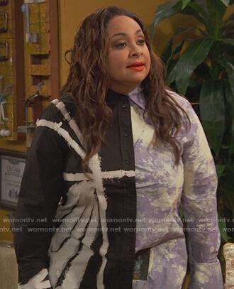 Raven's tie dye shirt on Ravens Home