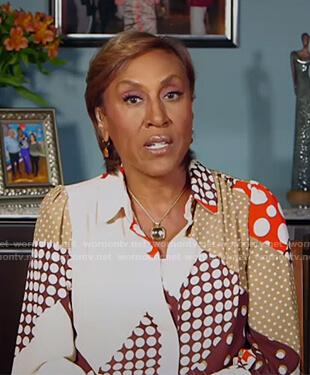 Robin's polka dot blouse on Good Morning America
