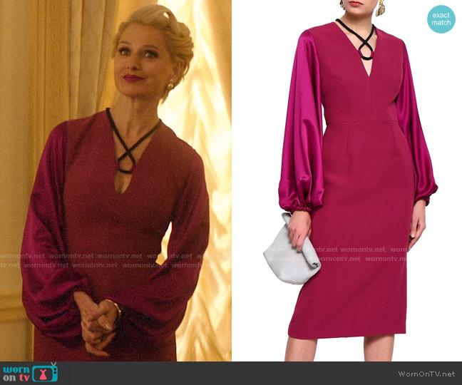 Roksanda Silk-blend satin and twill midi dress worn by  Gloria Grandbilt (Katherine LaNasa) on Katy Keene