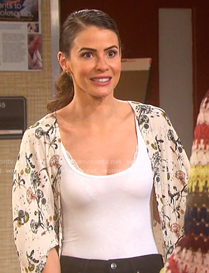 Sarah's floral kimono on Days of our Lives