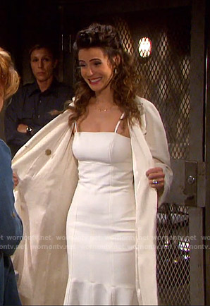 Sarah's wedding dress on Days of our Lives