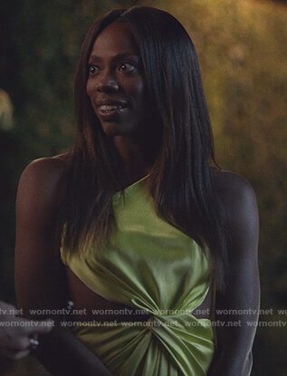 Molly's yellow twisted dress on Insecure