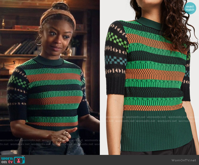 Scotch & Soda Mixed Sweater worn by Ali Finer (Javicia Leslie) on God Friended Me