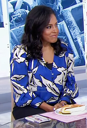 Sheinelle's blue floral top on Today