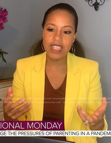 Sheinelle's yellow blazer on Today