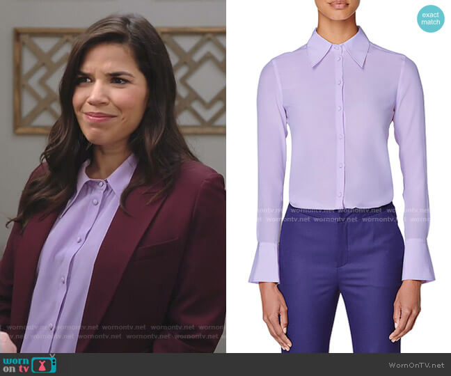 Alec Blouse by Suistudio worn by Amy (America Ferrera) on Superstore