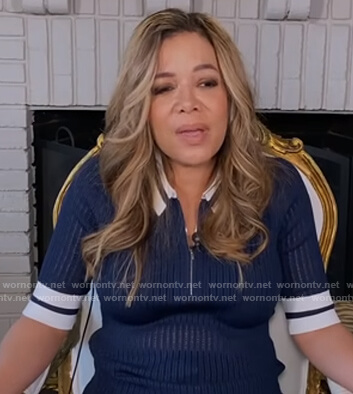 Sunny's navy sheer polo on The View