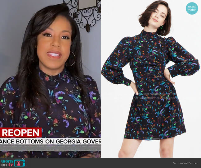 Clarisse Dress by Tanya Taylor worn by Sheinelle Jones  on Today