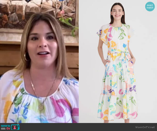 Ella Dress by Tanya Taylor worn by Jenna Bush Hager  on Today