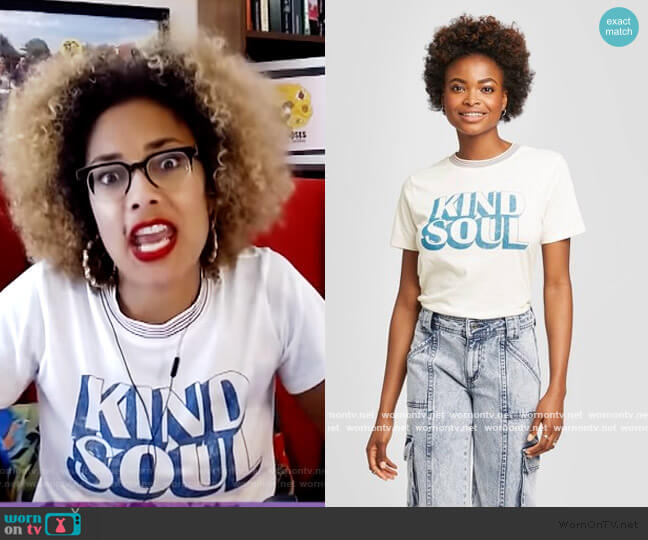 Kind Soul Graphic Tee by Target worn by Amanda Seales  on The Real