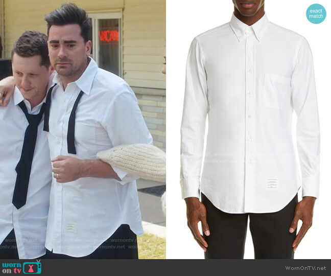 Oxford Button-Down Shirt by Thom Browne worn by David Rose (Daniel Levy) on Schitts Creek