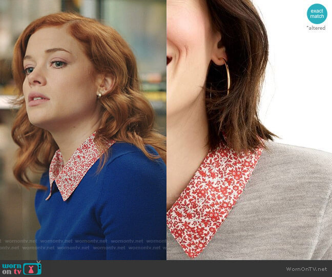 Tippi Liberty Print Collar Sweater by J. Crew worn by Zoey Clarke (Jane Levy) on Zoeys Extraordinary Playlist