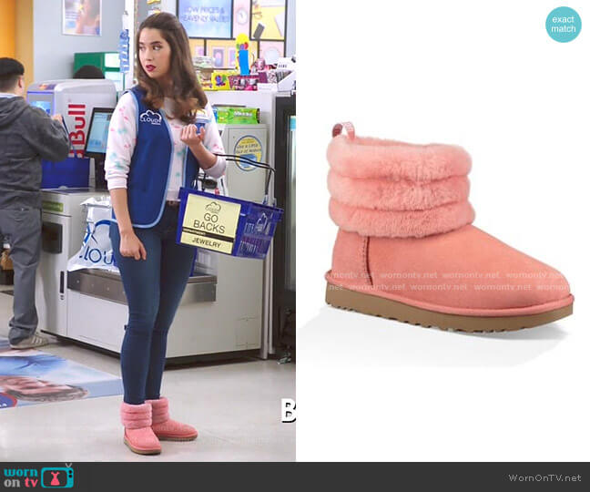 Classic Mini Fluff Quilted Boot by Ugg worn by Cheyenne (Nichole Bloom) on Superstore
