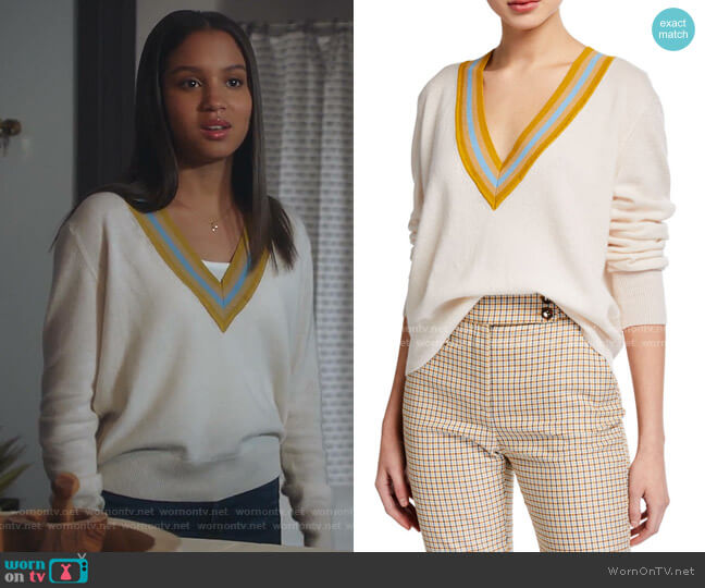 Jessel Sweater by Veronica Beard worn by May Grant (Corinne Massiah) on 9-1-1