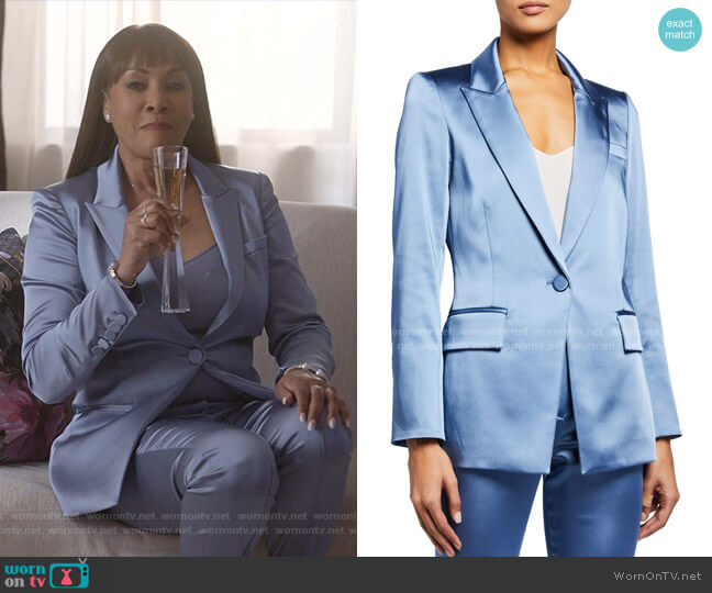 Medi Satin Jacket by Veronica Beard worn by Vivica A. Fox on Empire
