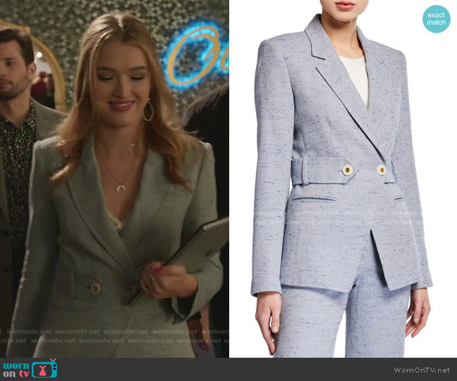 Russell Dickey Jacket by Veronica Beard worn by Kirby Anders (Maddison Brown) on Dynasty